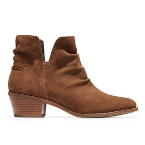 NEW Cole Haan Brown Alayna Slouch Suede Booties 6B